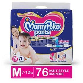 MamyPoko Dry Baby Diaper Pant Extra Absorb M 6-11 kg (76 Pcs)
